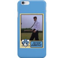 Peter Gibbons Baseball Card iPhone Case/Skin