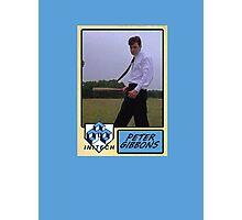 Peter Gibbons Baseball Card Photographic Print