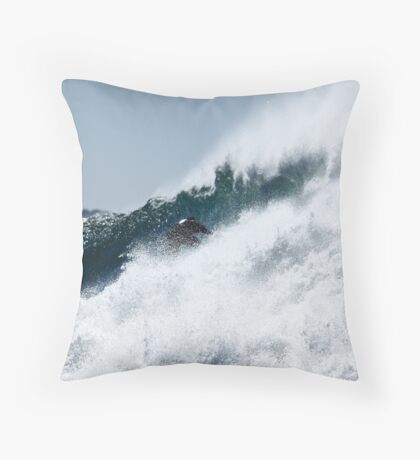 Pulling In... Throw Pillow