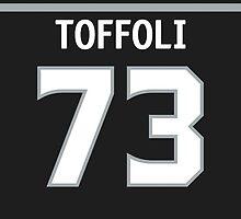 Los Angeles Kings Tyler Toffoli Jersey Back Phone Case by Russ Jericho