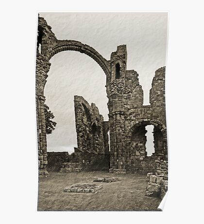 Holy Island Priory  Poster