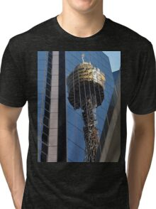 Centrepoint Tower Reflection, Sydney, Australia 2013 Tri-blend T-Shirt