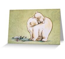 Mother and Cub 2 Greeting Card