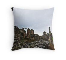Holy Island Priory #2 Throw Pillow