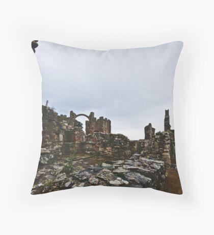 Holy Island Priory #2 Throw Pillow