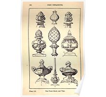 A Handbook Of Ornament With Three Hundred Plates Franz Sales Meyer 1896 0196 Free Ornaments Finial Knob Vase Poster