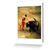 Bullfighter Greeting Card