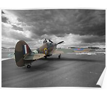 Hurricane under moody skies Poster