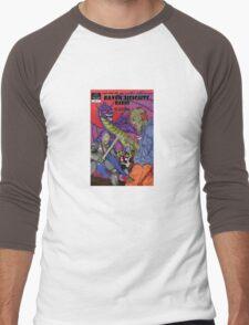 Raven Heights Radio Comic Design Men's Baseball ¾ T-Shirt