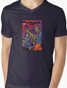 Raven Heights Radio Comic Design Mens V-Neck T-Shirt