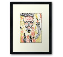 dance of the white shaman detail Framed Print