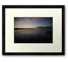 low light. inverloch - victoria Framed Print