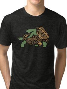 Ninja Turtle Galapagos making love eggs Tri-blend T-Shirt