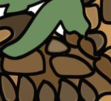 Ninja Turtle Galapagos making love eggs Sticker