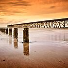 The Old Piers, North Sands, Hartlepool. UK by David Lewins LRPS