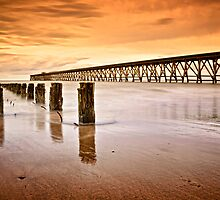 The Old Piers, North Sands, Hartlepool. UK by David Lewins