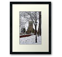 Kirk Bramwith Church in Winter Framed Print