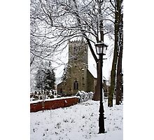 Kirk Bramwith Church in Winter Photographic Print