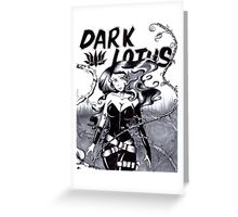 Bella Donna is Dark Lotus Greeting Card