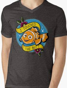 I touched the butt Mens V-Neck T-Shirt