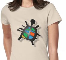 peace turtle Womens Fitted T-Shirt