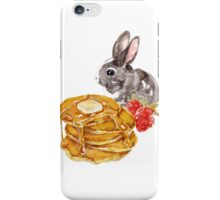 Rabbit with pancakes iPhone Case/Skin