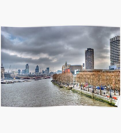 View from the South Bank Poster