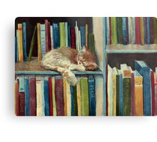 Quite Well Read Metal Print
