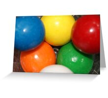 six little gumballs all stacked up Greeting Card