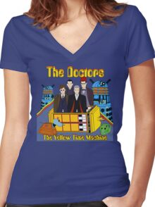 The Yellow Time Machine Women's Fitted V-Neck T-Shirt