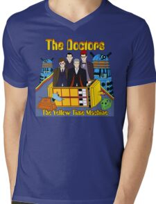 The Yellow Time Machine Mens V-Neck T-Shirt