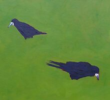 Rooks, Grass III by eolai