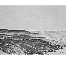 drawing - mist in the bay  Photographic Print