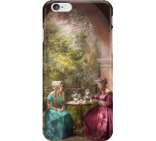 Tea Party - Sharing tea with Grandma 1936 iPhone Case/Skin