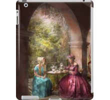 Tea Party - Sharing tea with Grandma 1936 iPad Case/Skin