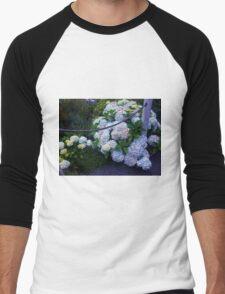 White Flowers Men's Baseball ¾ T-Shirt