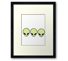 Three Best Alien Friends Framed Print