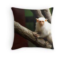 Curious Primate Throw Pillow