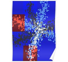 Blue autumn abstract Poster