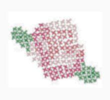 Pink Cross-Stitch Rose Kids Tee