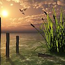 Bull rushes by Dawnsky2