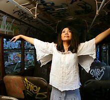 Art Inside an Abandoned Tram by moonlover