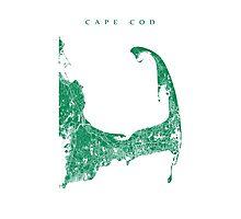 Cape Cod Map Photographic Print