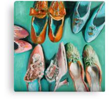 Marie's shoes Canvas Print