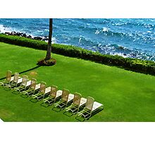 Chairs on the Beach Photographic Print