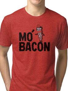 MO' BACON on lights Tri-blend T-Shirt