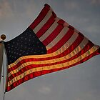 Flowing Glowing Old Glory by charlie murray