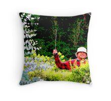 Panamanian Hedge Trimmer Throw Pillow