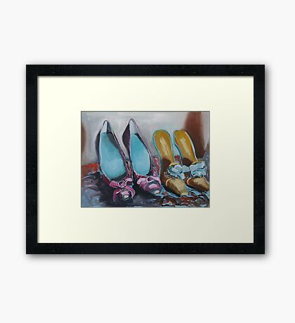 Decisions, decisions Framed Print