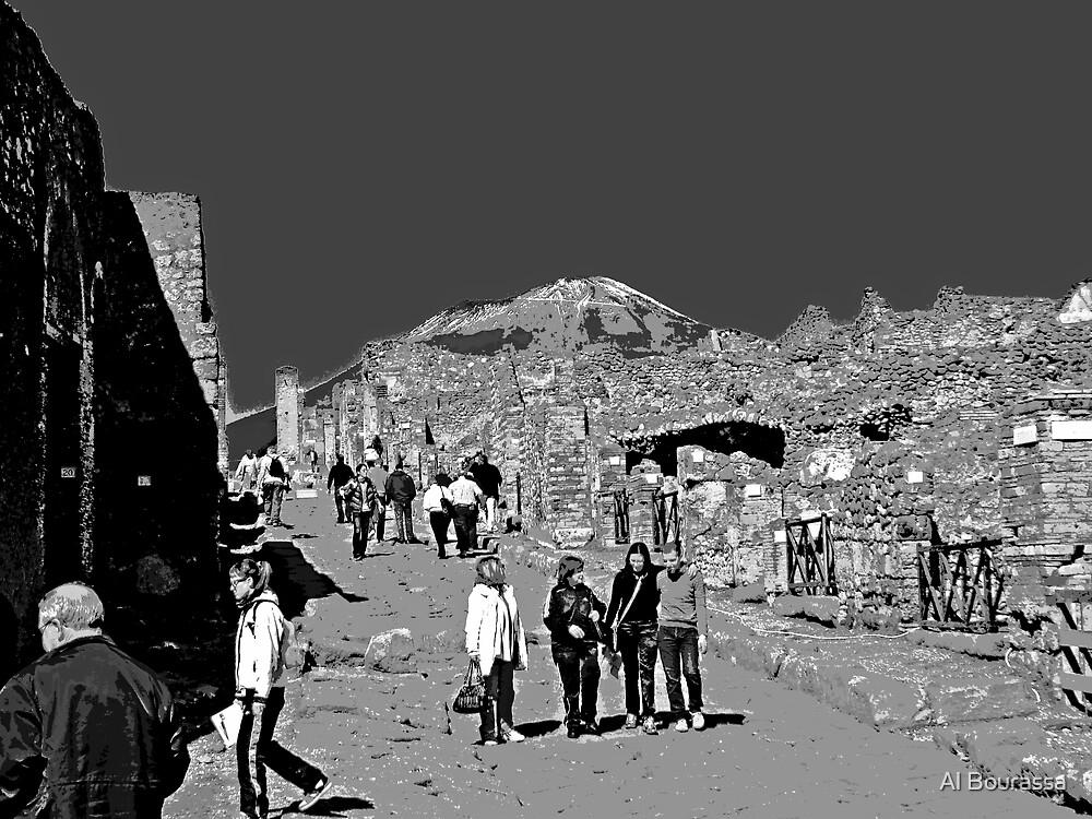 Pompeii And Vesuvius II by Al Bourassa
